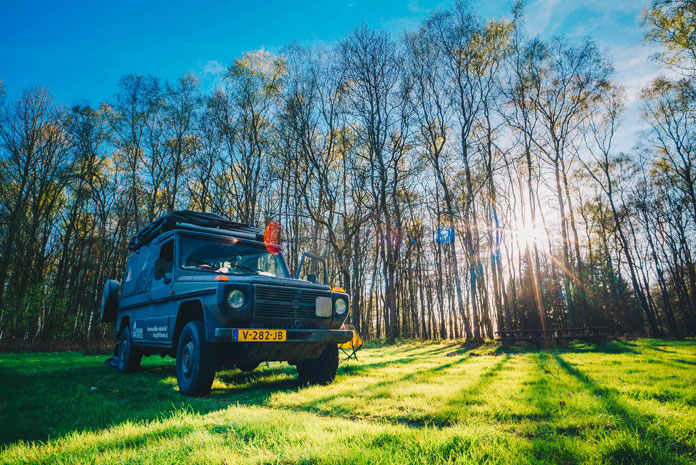 Weekend ardennen 4x4 kamperen