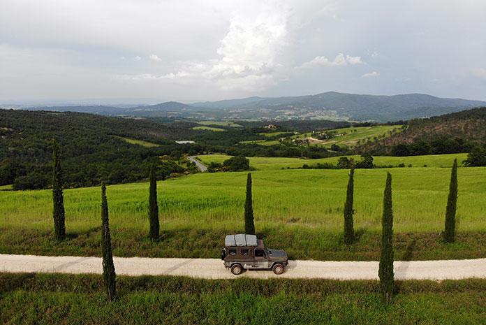 Toscane road trip camper